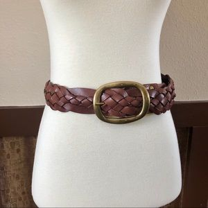 Tommy Bahama Braided Leather Belt w/Gold Buckle